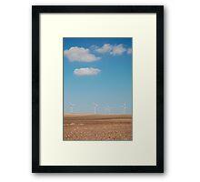 Wind Turbines and Blue Skies  Framed Print