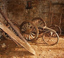 Old Wooden Agricultural Cart  by jojobob