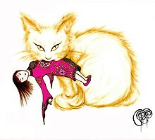 Not your China Doll the golden cat by Pseudopompous68