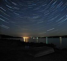 Stars over Gamble Bay - Washington by Mark Heller