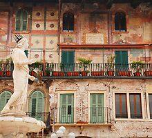 The Madonna Verona, Piazza Delle Erbe  by jojobob