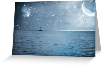 moonlight over the caribbean  by S .