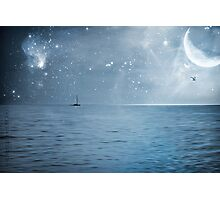 moonlight over the caribbean  Photographic Print