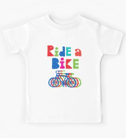 Ride a Bike sketchy - white T Kids Clothes
