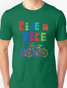 Ride a Bike sketchy - white T Unisex T-Shirt