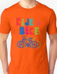 Ride a Bike sketchy - white T T-Shirt
