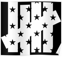 undefeated star white Poster