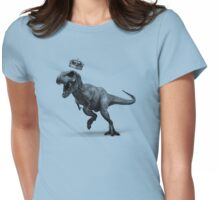 T-Rex Crown Womens Fitted T-Shirt
