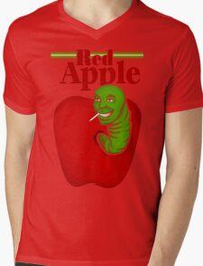 RED APPLE Mens V-Neck T-Shirt