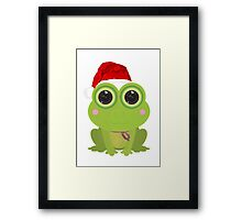 Christmas Frog Framed Print
