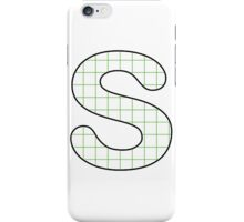 Letter Series - s (grid) iPhone Case/Skin