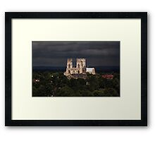 Clearing storm, York Minster Framed Print