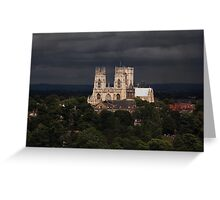Clearing storm, York Minster Greeting Card