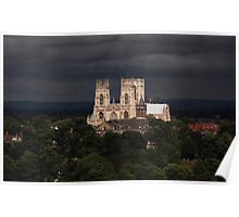 Clearing storm, York Minster Poster