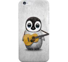 Musical Baby Penguin Playing Guitar White iPhone Case/Skin