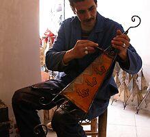 Artisan Painting Henna Lamps Marrakesh. by romaro