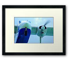 Plane landing Framed Print