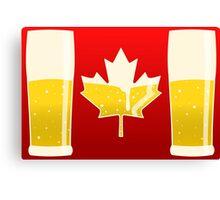 Canada Flag Beer Canvas Print