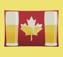Canada Flag Beer One Piece - Short Sleeve