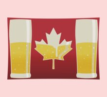 Canada Flag Beer One Piece - Long Sleeve