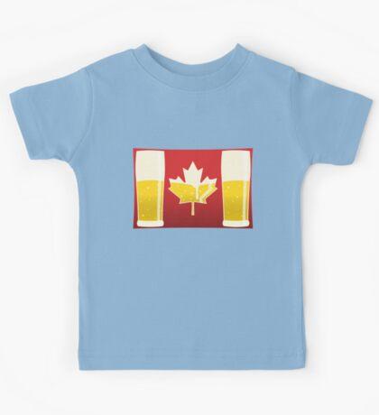 Canada Flag Beer Kids Tee