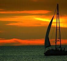 Sunset sailin' by Dirk van Laar