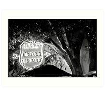 Chateau Garage Sign (2) Art Print