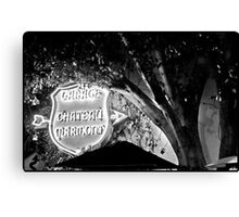 Chateau Garage Sign (2) Canvas Print