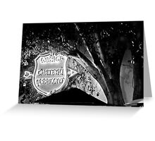 Chateau Garage Sign (2) Greeting Card