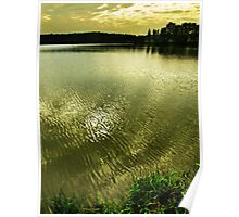Stilec Pond in golden hours Poster