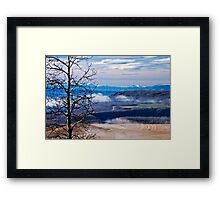 A Road Half Way There Framed Print