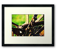 rustic spade Framed Print