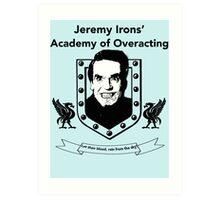 Jeremy Irons Academy Art Print