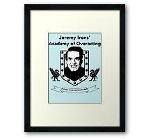 Jeremy Irons Academy Framed Print
