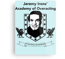 Jeremy Irons Academy Metal Print