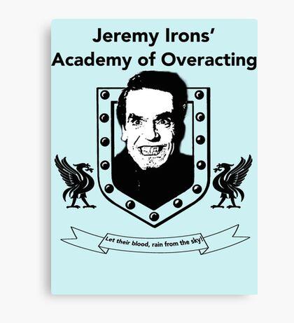 Jeremy Irons Academy Canvas Print