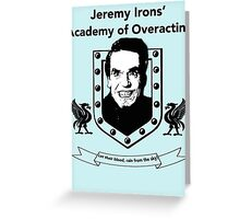 Jeremy Irons Academy Greeting Card
