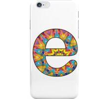 Letter Series - e (kaleidoscope) iPhone Case/Skin
