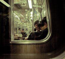 tokyo train by gorka arcocha