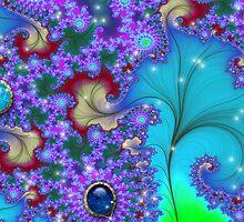 Fractal Floral Gems # 3 by Junior Mclean