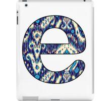 Letter Series - e (ikat) iPad Case/Skin