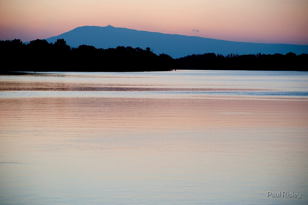 Mont Ventoux and the Rhone, dawn by Paul Ridley
