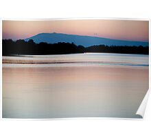 Mont Ventoux and the Rhone, dawn Poster