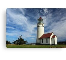 The Lighthouse At Cape Blanco Canvas Print