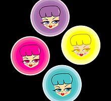 Pretty Girls Polka Dot by ladylove4u