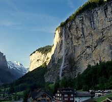 Waterfall in Swiss Alps by BeaMe