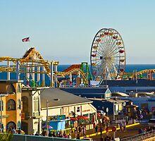 Santa Monica Pier (Tilt Shift) by Barb White