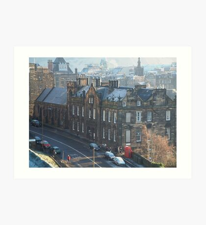 Castle Rock Hostel, Edinburgh Art Print