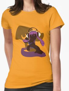 Purple Female Inkling - Sunset Shores Womens Fitted T-Shirt