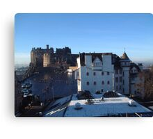 Edinburgh Castle and Ramsay Gardens Canvas Print